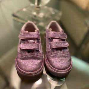 Girls Toddler Pink Sparkle VANS Size 7